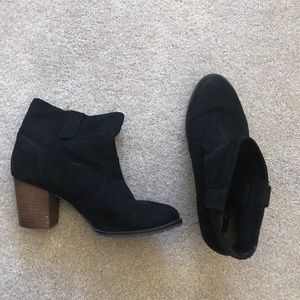 Forever 21 Suede Ankle Boots w/ Heel